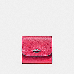 COACH SMALL WALLET - SILVER/MAGENTA - F87588