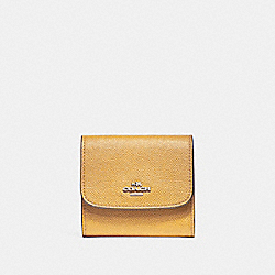 COACH SMALL WALLET - SILVER/MUSTARD - F87588