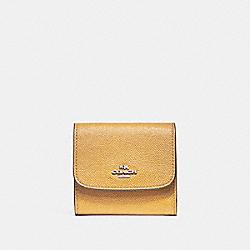 COACH SMALL WALLET - SILVER/MUSTARD - F87588