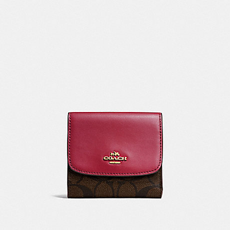 COACH SMALL WALLET IN SIGNATURE CANVAS - IMNM4 - f87589