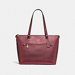 GALLERY TOTE - IM/METALLIC WINE - COACH F87684