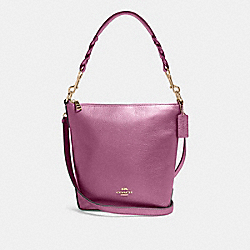 MINI ABBY DUFFLE - IM/METALLIC BERRY - COACH F87691