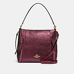 MARLON HOBO - IM/METALLIC WINE - COACH F87825