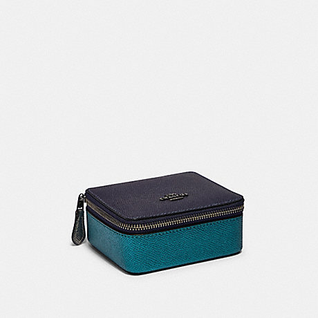 COACH JEWELRY BOX IN COLORBLOCK - QB/BLUE MULTI - F87880