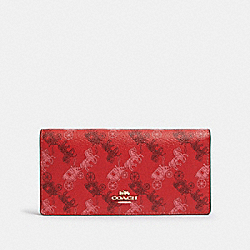 BIFOLD WALLET WITH HORSE AND CARRIAGE PRINT - IM/BRIGHT RED/CHERRY MULTI - COACH F87933