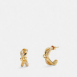 CRISS CROSS HUGGIE EARRINGS - GOLD - COACH F87948