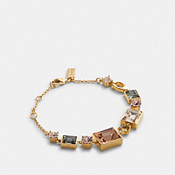 CRYSTAL CHAIN BRACELET - GD/MULTI - COACH F87959
