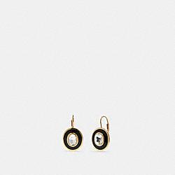 DECO LEVERBACK EARRINGS - GD/BLACK - COACH F87970