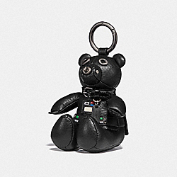 STAR WARS X COACH DARTH VADER BEAR BAG CHARM - QB/BLACK - COACH F88049