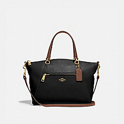 PRAIRIE SATCHEL - IM/BLACK/SADDLE - COACH F88057