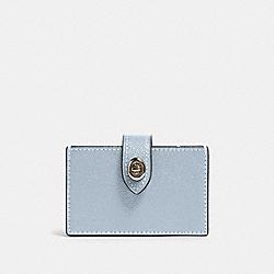 ACCORDION CARD CASE - SV/PALE BLUE - COACH F88097