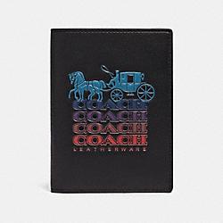 PASSPORT CASE WITH OMBRE COACH - QB/BLACK MULTI - COACH F88122
