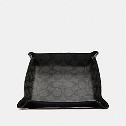 VALET TRAY IN SIGNATURE CANVAS - QB/CHARCOAL/BLACK - COACH F88131