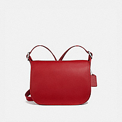PATRICIA SADDLE BAG - SV/TRUE RED - COACH F88145
