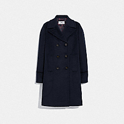 TAILORED WOOL COAT - NAVY - COACH F88146