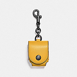 EARBUD CASE BAG CHARM - QB/BANANA - COACH F88199QBBAN