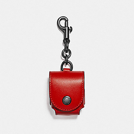 COACH EARBUD CASE BAG CHARM - SV/SPORT RED - F88199SVPJ6