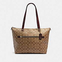 GALLERY TOTE IN SIGNATURE CANVAS - IM/KHAKI MULTI - COACH F88233