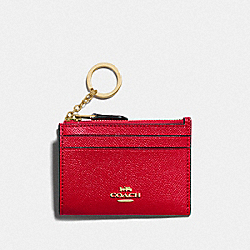 MINI SKINNY ID CASE - IM/BRIGHT RED - COACH F88250