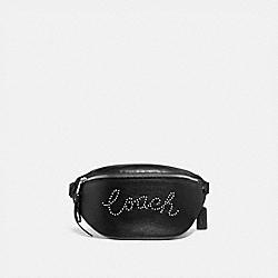 BELT BAG WITH STUDDED COACH SCRIPT - SV/BLACK - COACH F88875