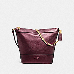 SMALL PAXTON DUFFLE - IM/METALLIC WINE - COACH F88878