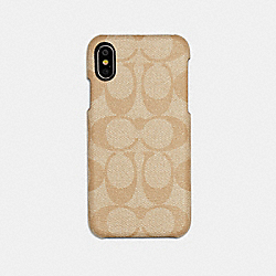 IPHONE X/XS CASE IN SIGNATURE CANVAS - IVORY - COACH F89009