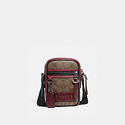 TERRAIN CROSSBODY IN COLORBLOCK SIGNATURE CANVAS - QB/TAN SOFT RED - COACH F89033