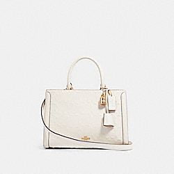 ZOE CARRYALL IN SIGNATURE LEATHER - IM/CHALK - COACH F89039