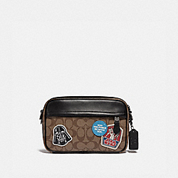 STAR WARS X COACH GRAHAM CROSSBODY IN SIGNATURE CANVAS WITH PATCHES - QB/TAN MULTI - COACH F89188