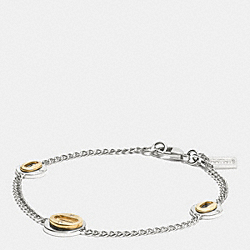 COACH LAYERED OVALS BRACELET - MULTICOLOR - F90288