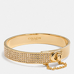 COACH PAVE TURNLOCK BANGLE - GOLD - F90318