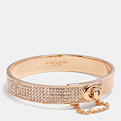 PAVE TURNLOCK BANGLE - f90318 - ROSEGOLD