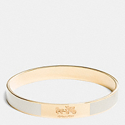 COACH PLAQUE ENAMEL BANGLE - GOLD/CHALK - COACH F90334