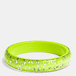 C.O.A.C.H. SLIM RESIN BANGLE - SILVER/GLO LLIGHT GOLDE - COACH F90340