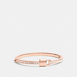 COACH PADLOCK AND PAVE HINGED BANGLE - RESIN/CLEAR - F90355