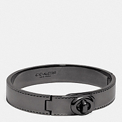 COACH METAL TURNLOCK HINGED BANGLE - BLACK - COACH F90368