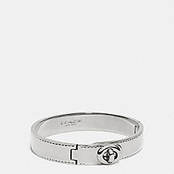 COACH METAL TURNLOCK HINGED BANGLE - SILVER - COACH F90368