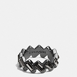 HANGTAG BAGUETTE BAND RING - BLACK - COACH F90381