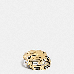 COACH HANGTAG RING SET - GOLD/CLEAR - F90387
