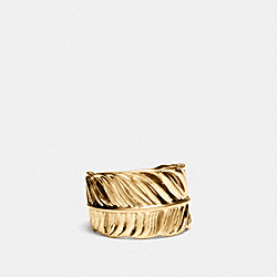 FEATHER RING - BRASS - COACH F90430