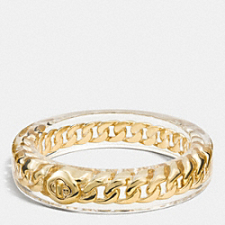 COACH TURNLOCK CURBCHAIN RESIN BANGLE - GOLD - F90467