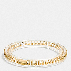 COACH BALLCHAIN PLAQUE RESIN BANGLE - GOLD - F90468
