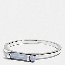 COACH AMULET HINGED BANGLE - SILVER/PALE BLUE - F90505