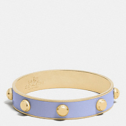 COACH HALF INCH ENAMEL RIVET BANGLE - GOLD/LILAC - COACH F90519