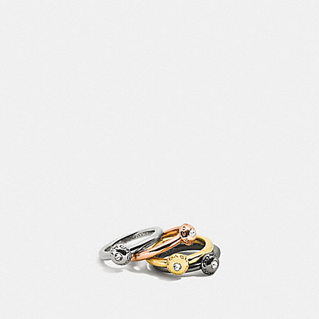 COACH PAVE DISC STACKABLE RING SET - MULTICOLOR - f90526