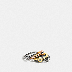PAVE DISC STACKABLE RING SET - MULTICOLOR - COACH F90526