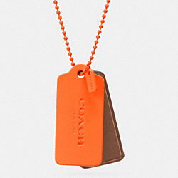 C.O.A.C.H. NOVELTY HANGTAG NECKLACE - NEON ORANGE/SADDLE/NEON ORANGE - COACH F90550