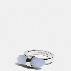 AMULET RING - SILVER/PALE BLUE - COACH F90552