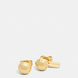 COACH RIVET STUD EARRINGS - GOLD - COACH F90558