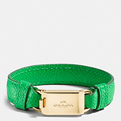 LEATHER HORSE AND CARRIAGE ID BRACELET - GDGRN - COACH F90590